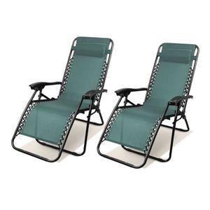 DELUXE ALU Chaise Longue Chaise pliante rembourré repose pieds Chaise Longue Camping Chaise Longue