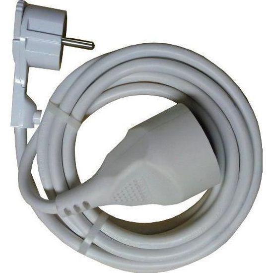 Electraline 20848025D Rallonge Prolongateur /électrique 10 m 16A section 3G1,5 mm/² noir