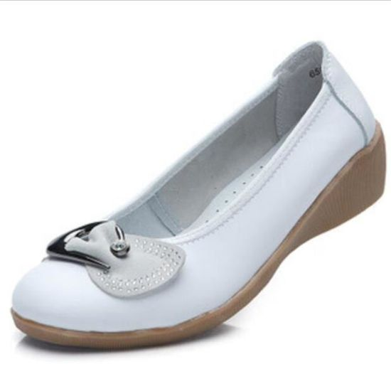 Chaussures Femme Cuir Casual Comfortable Chaussure DTG-XZ047Blanc39 / Blanc Blanc - Achat / DTG-XZ047Blanc39 Vente escarpin 691924