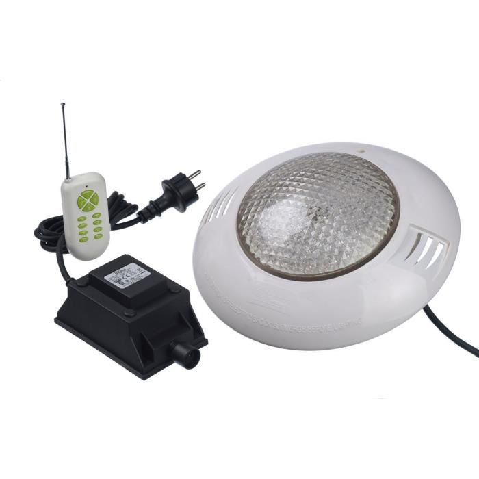 Spot piscine for Lampe piscine bois