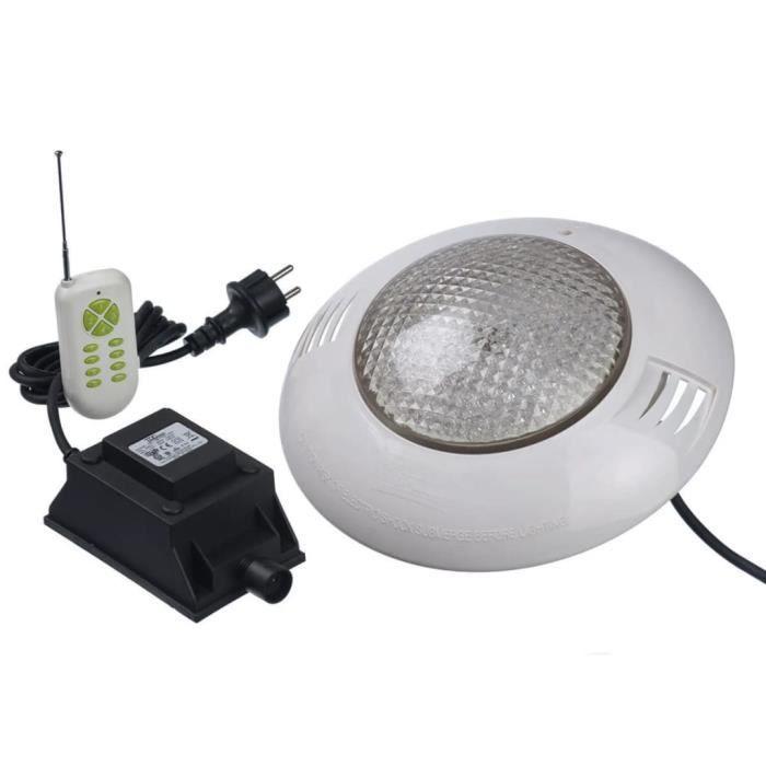 PROJECTEUR - LAMPE Kit spot 406 LED couleur + télécommande piscine