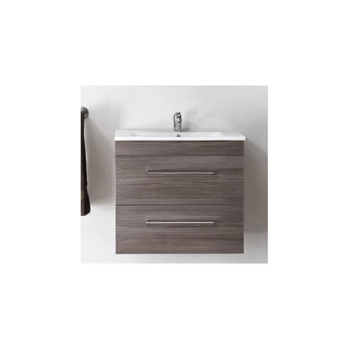 Cosmo - Ensemble sous-vasque + vasque - Bois - 60 cm - Cosmo
