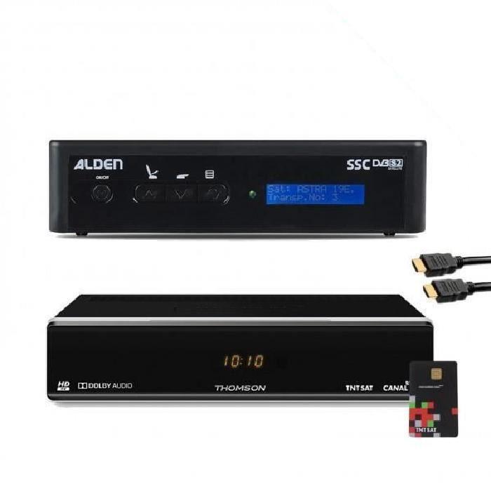 PACK ALDEN Récepteur THOMSON THS 804 TNTSAT HD + Pointeur MRA HD Astra pour parabole automatique
