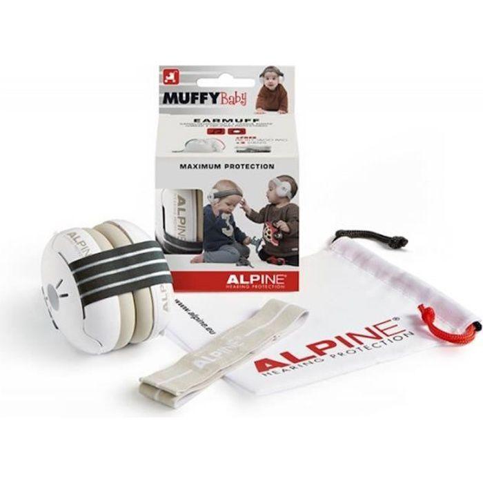 Alpine Muffy Baby BLK - Protections auditives pour bébé - noires