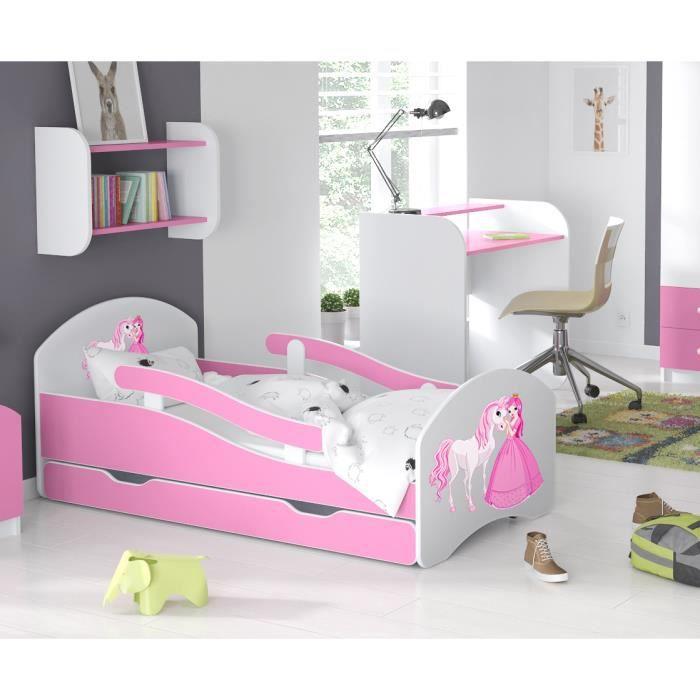 LIT ENFANT Dreams 160x70cm, AVEC MATELAS & BARRE DE SECURITE & TIROIR - l3