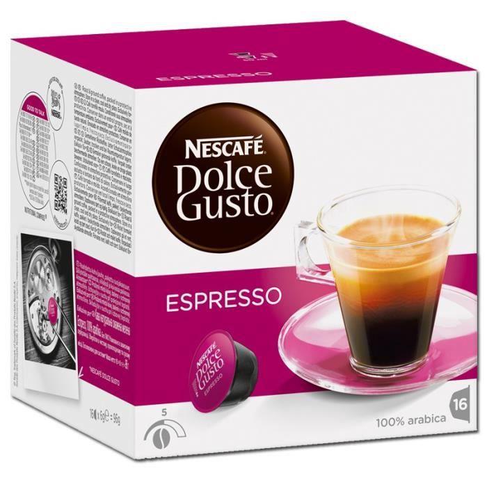Nestlé Dolce Gusto Espresso, Café, Café noir, Boîte de 16 capsules