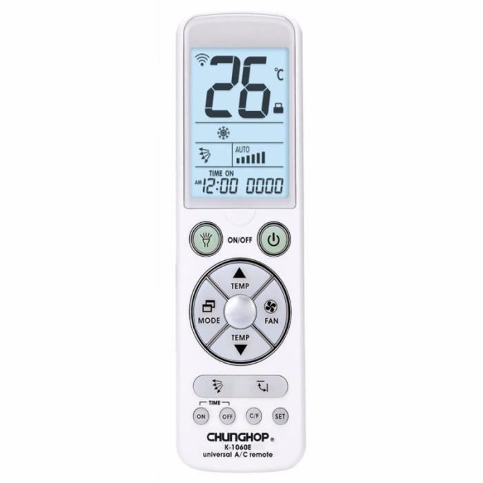 Piece Detachee Genie Thermique - Piece Detachee Climatisation - Télécommande universel pour (climatiseur)
