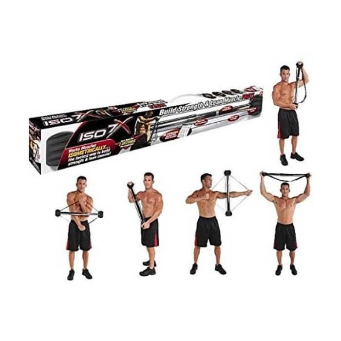 Barre d'entraînement isométrique ISO 7X- bandes de résistance-elastique fitness- musculation-tubes-sport-gym-pilates- yoga
