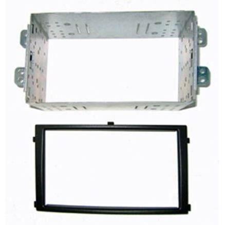 Adaptateur de façade d'autoradio Double DIN Noir avec cage métallique Ssangyong Rexton 2 2006 >