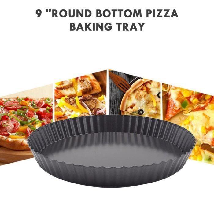 9 pouces antiadhésif poêle à pizza moule à quiche avec fond amovible moule à tarte assiètte poele de pizza