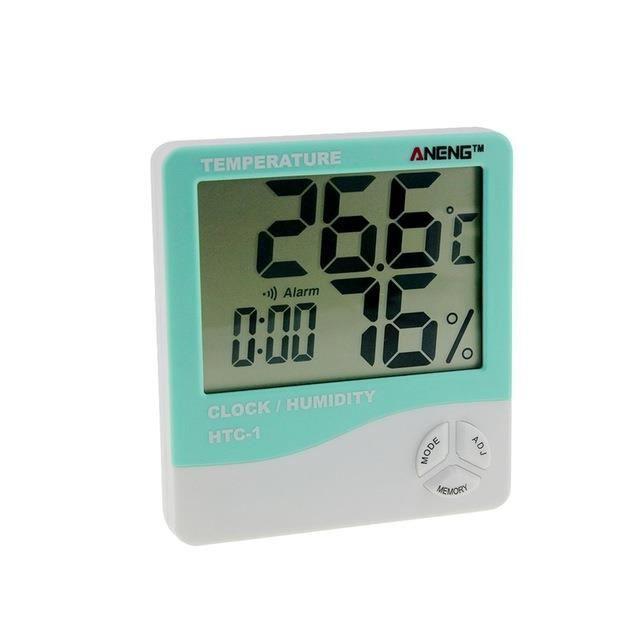 A1032 HTC 1 intérieur LCD électronique numérique température humidité mètre numérique thermomètre hygromètre réveil Station météo~