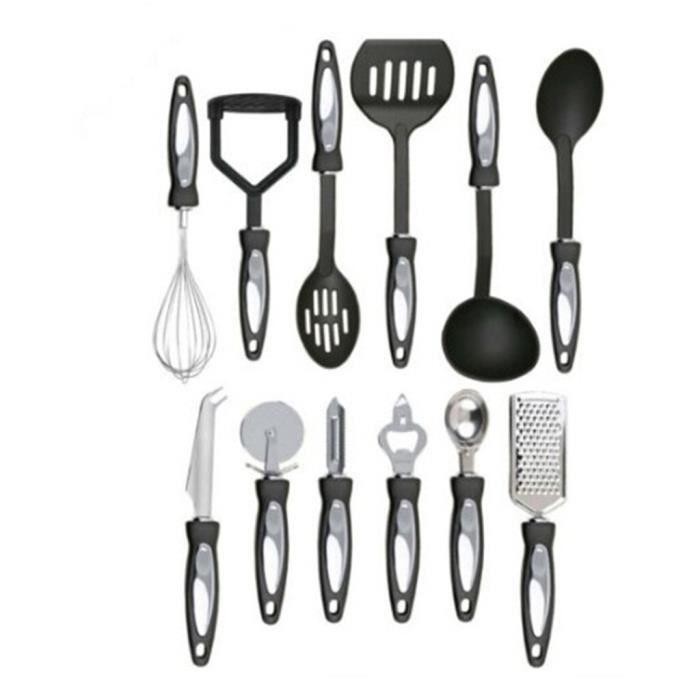 12 pièces cuisine outils ensemble Silicone + poignée cuisine ustensiles de cuisine ensemble avec boîte de rangement tourneur Ton