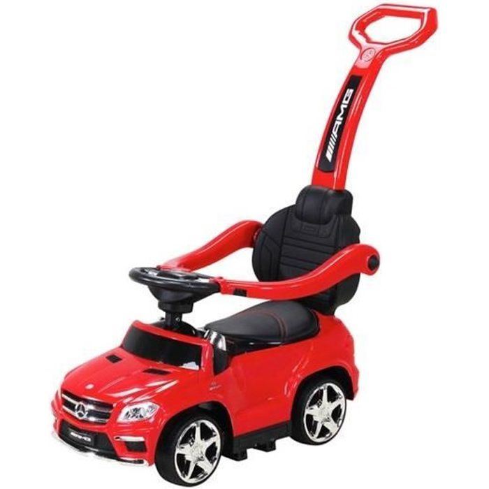 Trotteur Pousseur Voiture Mercedes GL63 Rouge - Porteur Voiture à Pousser pour Bébé Garçon ou Fille - Véhicule Jouet
