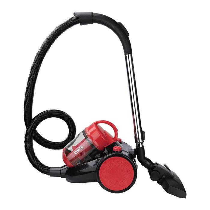 Hengda Aspirateur traîneau sans sac Puissance maximale: 900 watts volume du bac à poussière: 3 litres - filtre hygiénique lavable A