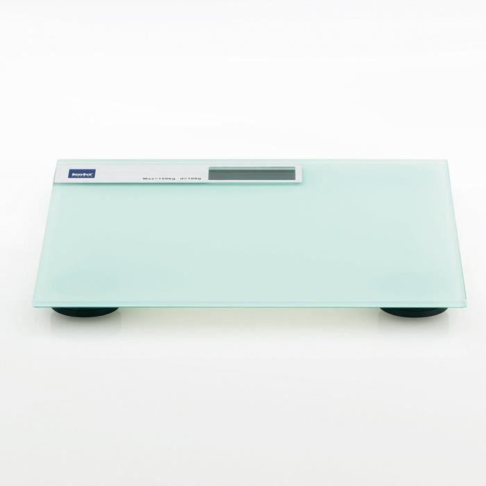 Kela 21299 pèse-personne, verre de sécurité, 30 x 30 x 2 cm, blanc, 'Linda'