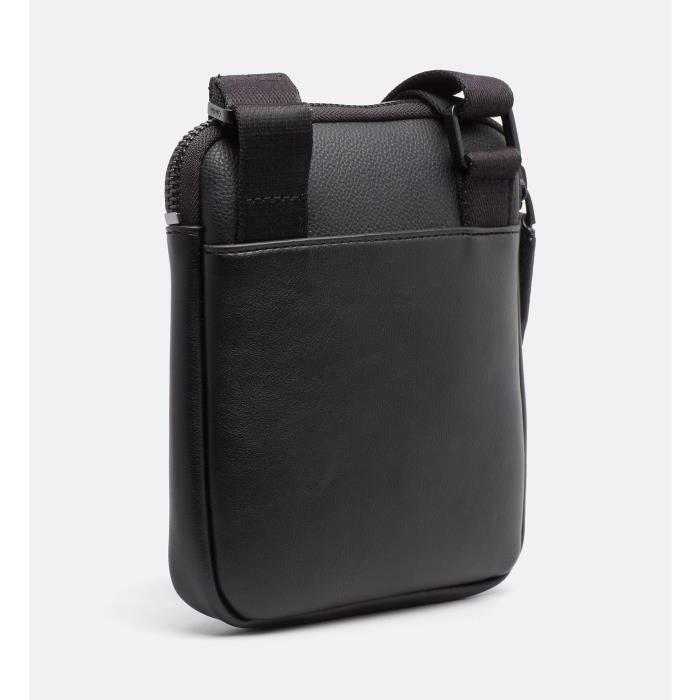 Sacoche Homme Calvin Klein en similicuir Noir (Réf. K50K503522) - BettyandCo