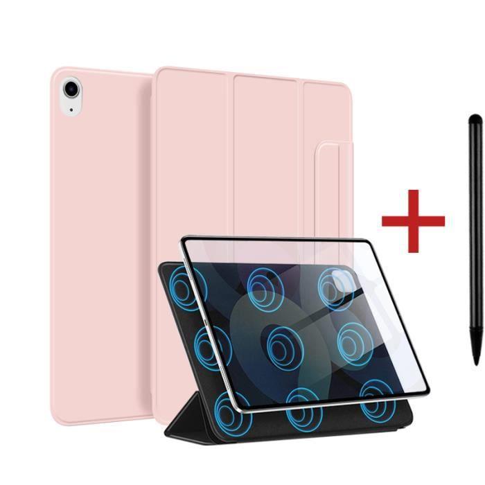 Coque iPad Air 4 2020 [ +Stylet ] Aimant Puissant Rassurant Magnétique Réveil/Sommeil Automatique Housse Case - Rose