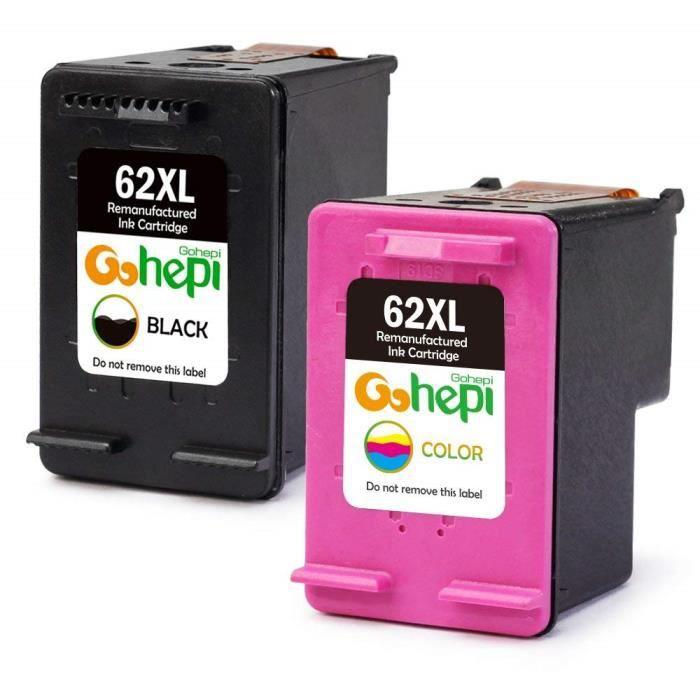 Cartouches compatibles HP 62 XL avec HP OfficeJet 200 5740 5742 5744 HP ENVY 5540 5542 5544 5546 5640 5642 5644 5646 7640