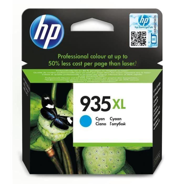 HP 935XL cartouche d'encre cyan authentique grande capacité (C2P24AE)