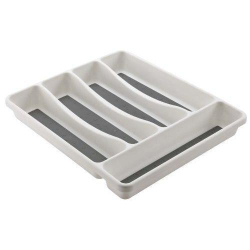 Mondex Range Couverts pour Tiroir de Cuisine 5 Compartiments Plastique Blanc 31 x 27 x 4,5 cm - PLS261-00
