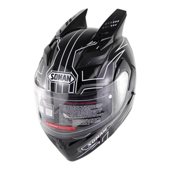Casque Modulable Adulte Mixte Casque moto pour la ville et la balade et Sport et Grand tourisme Accessoire corne Sur la tête