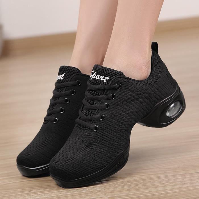 Chaussures De Running Cl8910 Sport Danse Femme Moderne Jazz Doux Respirant Noir 41 55