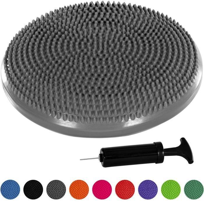 MOVIT Coussin d'équilibre et d'assise gonflable 33 cm, gris