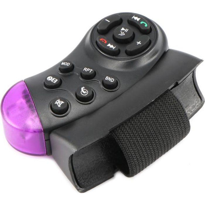Bouton de Commande Universel Multifonction pour autoradio MP5 pour Volant de Voiture Télécommande sans Fil