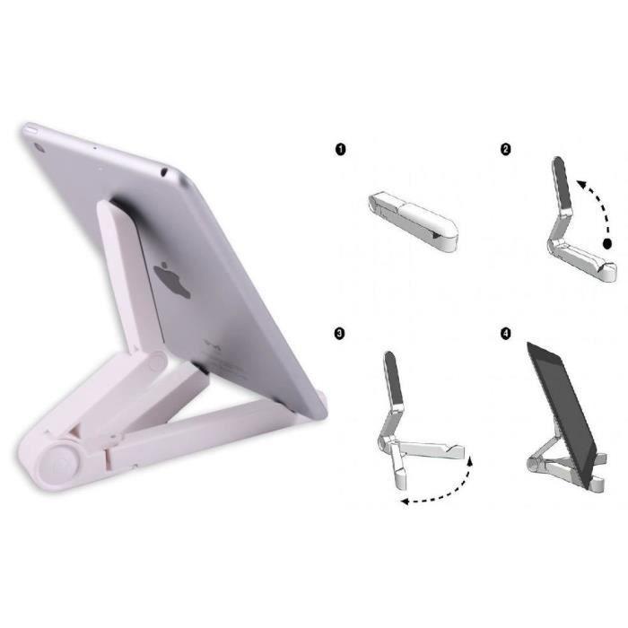 Support bureau stand tablette ozzzo blanc pour Teclast X80 Plus
