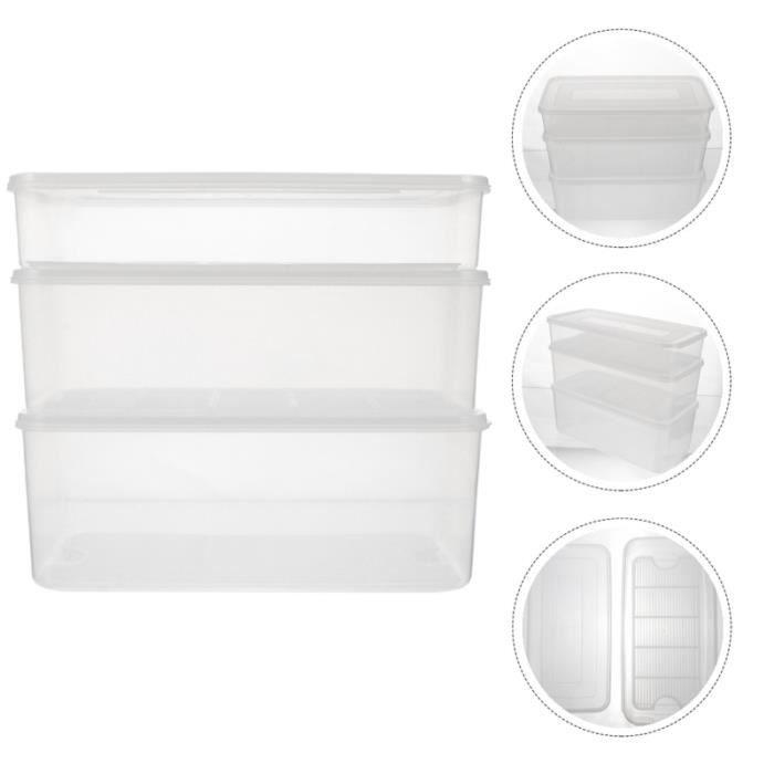 3 pièces Transparent Pratique Fond Filtre Conception Creative Alimentaire D'étanchéité Boîtes De Rangement CEREALE-MUESLI,FLOCON