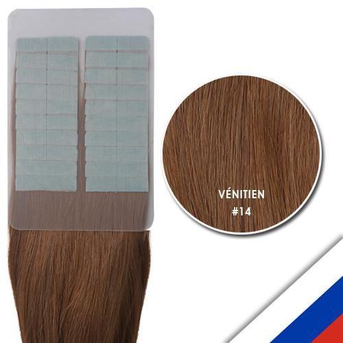 Extensions adhésives cheveux russes 46 cm vénitien