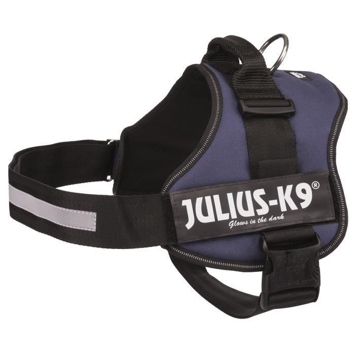JULIUS K9 Harnais Power 3–XL-XXL : 82–116 cm - 50 mm - Indigo - Pour chien