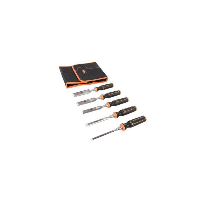 Lot de 5 ciseaux à bois TWCS5 - 6, 12, 19, 25 et 32 mm - 823149 - Triton