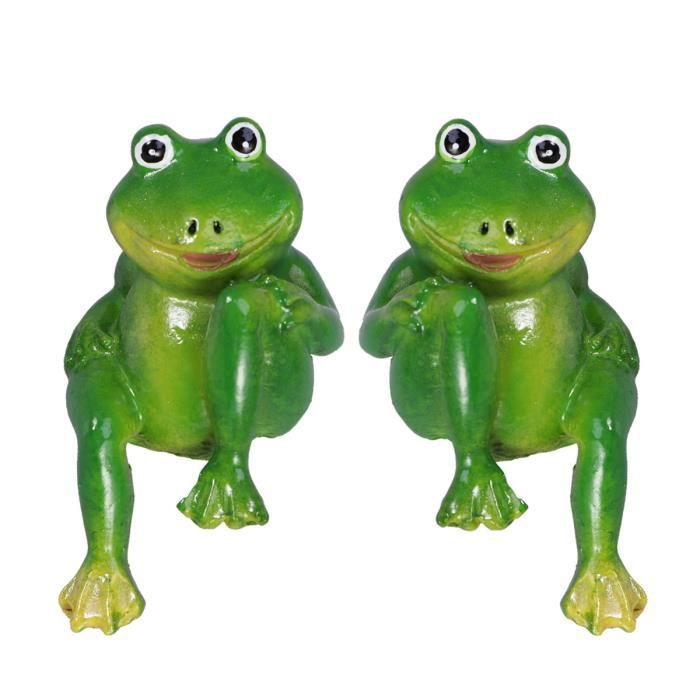 2 pcs Simulation Grenouille Résine Décorative Adorable Belle ROBOT MINIATURE - PERSONNAGE MINIATURE - ANIMAL ANIME MINIATURE