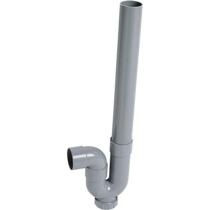 WIRQUIN Siphon simple crosse SP5001 - PVC - Machine à laver - Sortie horizontale - À coller