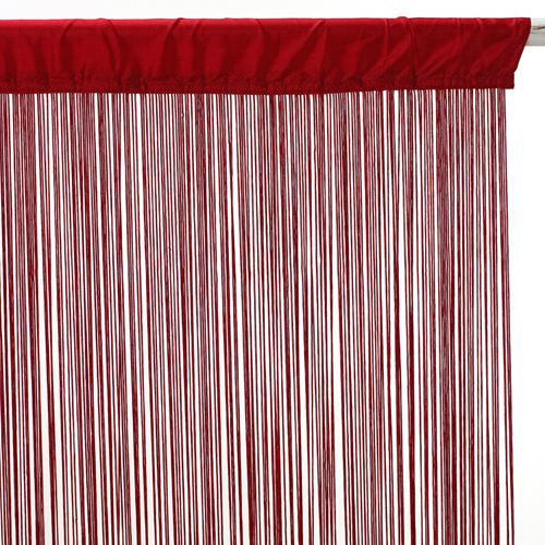 RIDEAU Rideau fils - 90 x 200 cm - Rouge