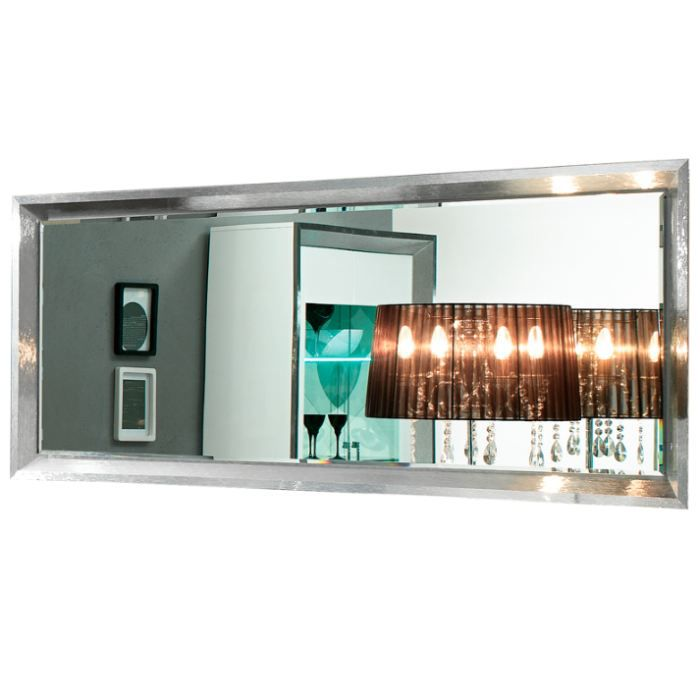 miroir rectangulaire cadre d cor chrome achat vente. Black Bedroom Furniture Sets. Home Design Ideas