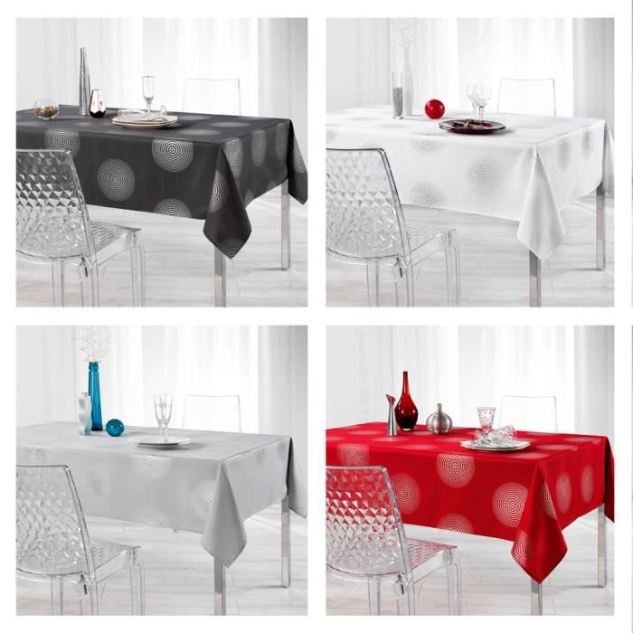 Nappe anti-tache - Rectangle - 150 x 300 cm - Atome Anthracite ...