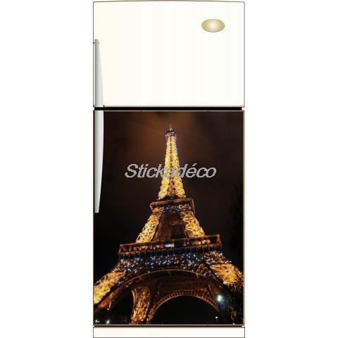 Sticker frigidaire tour eiffel dimensions 60x achat vente stickers v - Tour eiffel dimension ...