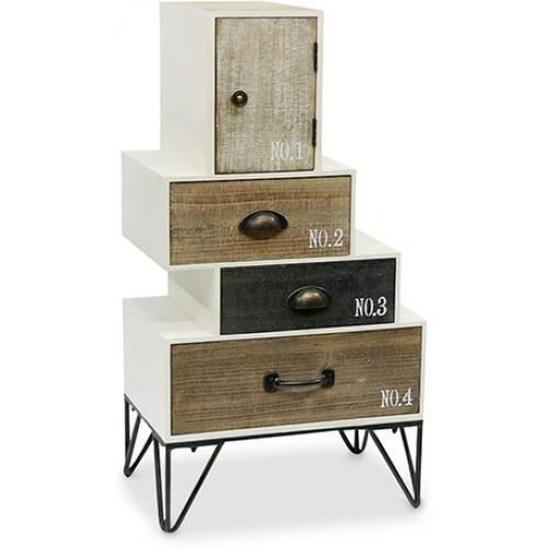 commode hairpin en bois style vintage industriel bois. Black Bedroom Furniture Sets. Home Design Ideas