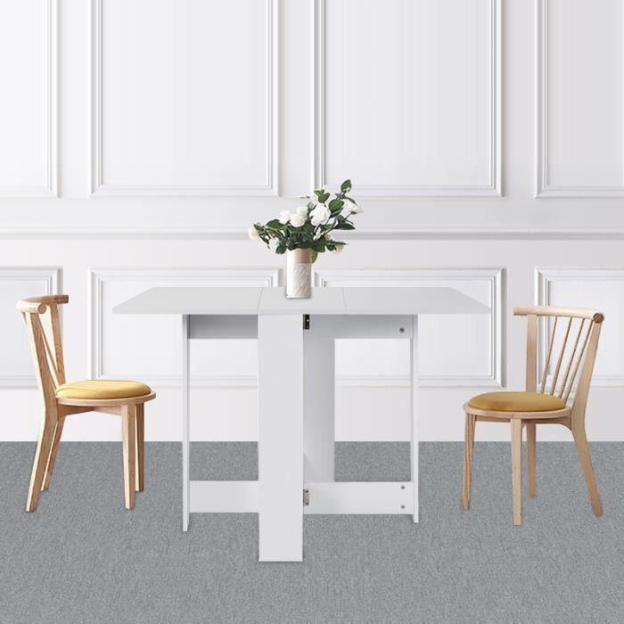 Table De Cuisine Pliante Pour 4 A 6 Personne 102 5 76 73cm Blanc