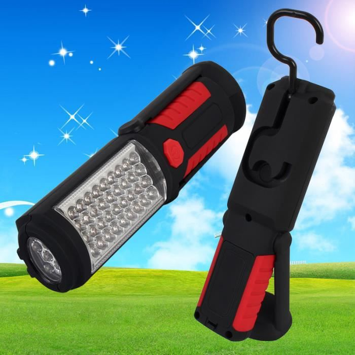 36 5 led lampe torche camping lampe avec crochet et si ge d 39 aimant lampe de poche pour voiture. Black Bedroom Furniture Sets. Home Design Ideas