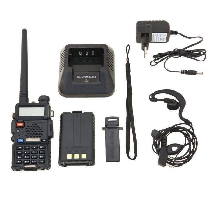 TALKIE-WALKIE Baofeng UV-5R Talkie-walkie FM radio VHF-UHF avec