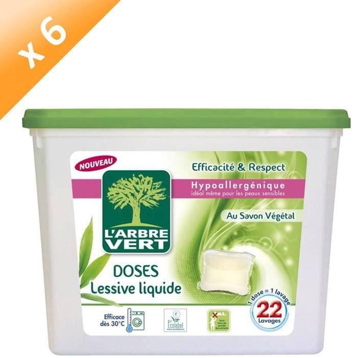 LESSIVE L'ARBRE VERT Lessives liquides - Savon végétal - 5