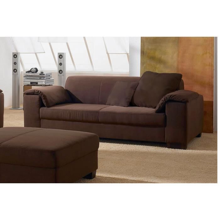 canap 2 places microfibre marron pandora achat vente canap sofa divan cdiscount. Black Bedroom Furniture Sets. Home Design Ideas