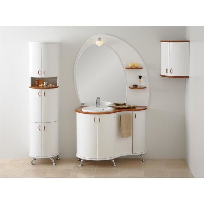 justhome royal ensemble salle de bain blanc bois naturel achat vente salle de bain. Black Bedroom Furniture Sets. Home Design Ideas