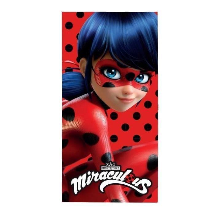 Miraculous Ladybug Serviette de Bain en Microfibre pour Enfant 70 x 140 cm