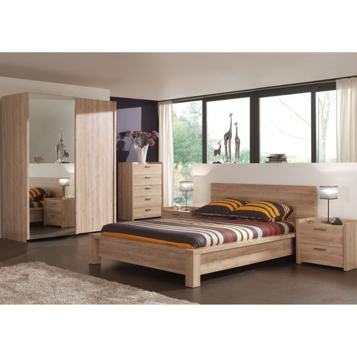 Chambre adulte compl te florine ii 160x200 cm achat for Axel chambre complete adulte 140 cm reglisse mastic