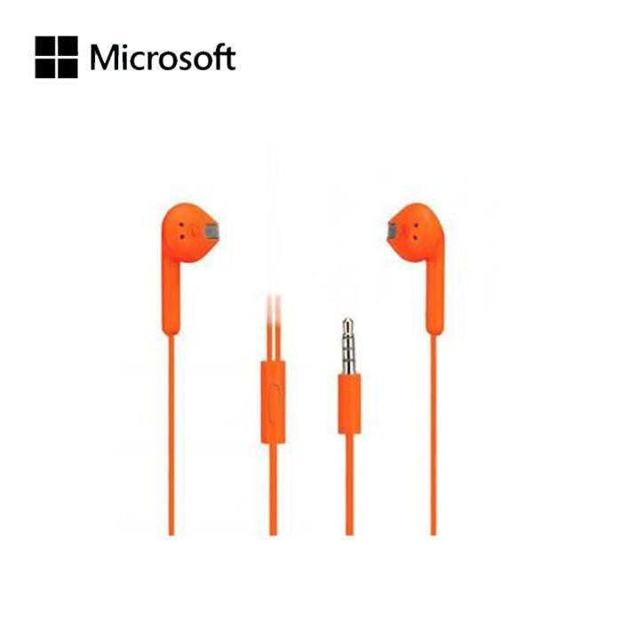microsoft stereo headset orange casque couteur prix pas cher cdiscount. Black Bedroom Furniture Sets. Home Design Ideas