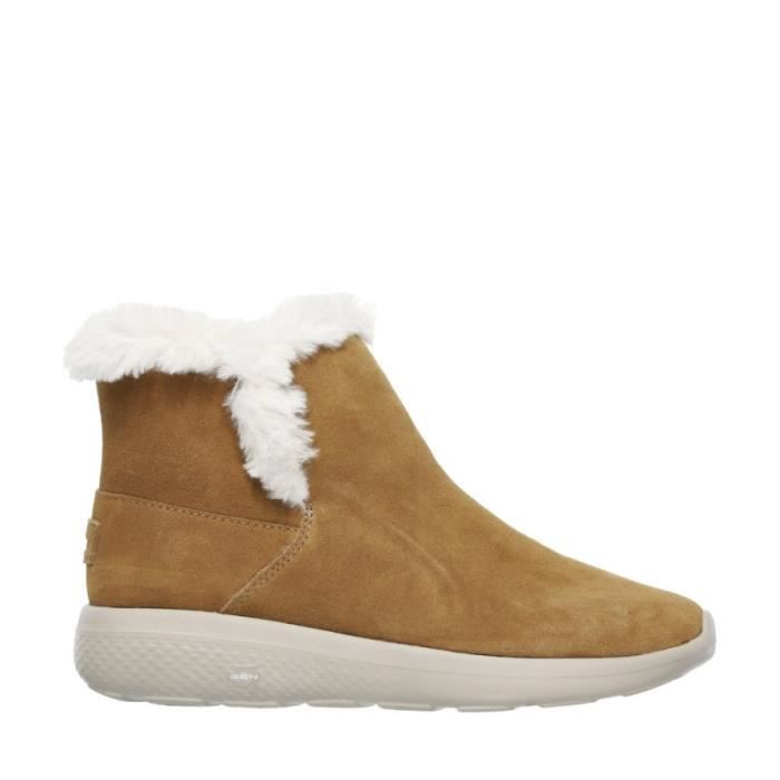 SKECHERS Bottines- Cheveux - Suede - Camel - Taille - Quarante Femme Ref. 2301_22614